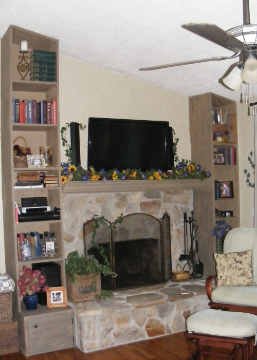 fireplace decorated