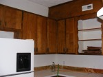 These cabinets were dismantled piece by piece  so we could reuse the lumber
